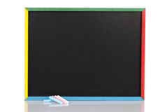 Child chalkboard with chalk Royalty Free Stock Image
