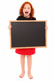 Child Chalkboard Screaming Stock Photography