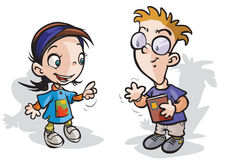 Child characters. Stock Image