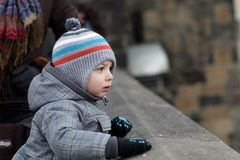 Child at Charles bridge Stock Image