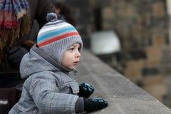 Child at Charles bridge Stock Image