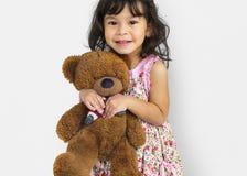 Child Cheerful Studio Portrait Concept stock photos