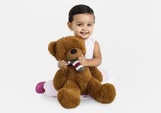 Child Cheerful Studio Portrait Concept royalty free stock photos