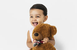 Child Cheerful Studio Portrait Concept stock photo