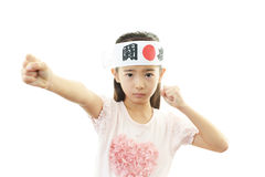 Child cheering Royalty Free Stock Image