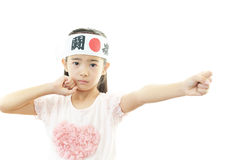 Child cheering Royalty Free Stock Photography