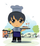 Child chef vector illustration