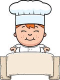 Child Chef Banner Stock Image