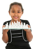 Child with Chess Board stock photos
