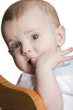 Child chew finger Stock Image