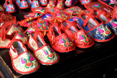 Child Chinese shoes Royalty Free Stock Photos