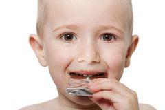 Child with chocolate Royalty Free Stock Photography