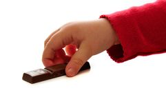 Child and chocolate. Royalty Free Stock Photo
