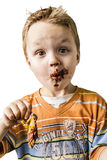 Child and chocolate Royalty Free Stock Photos