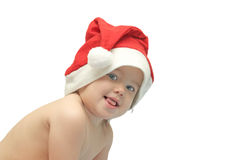 The child in a christmas cap Stock Photo