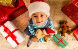 Child Christmas celebration Stock Photography