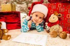 Child Christmas celebration Royalty Free Stock Images