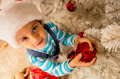 Child Christmas celebration Royalty Free Stock Photo