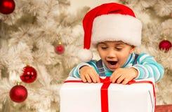 Child Christmas celebration Stock Image