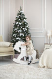 Child Christmas Stock Photos