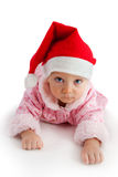 Child in christmas hat Royalty Free Stock Photo