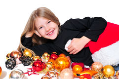 Child Christmas laugh Royalty Free Stock Photography