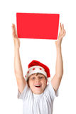 Child with Christmas Message Royalty Free Stock Photo