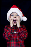 Child on Christmas Morning Royalty Free Stock Images