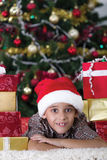 Child in Christmas night Stock Photography