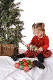 Child Christmas Ornaments Royalty Free Stock Photography