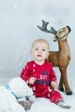 Child at Christmas Royalty Free Stock Image