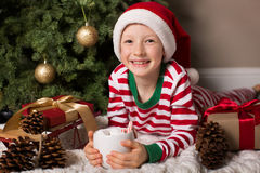 Child at christmas time Royalty Free Stock Photography