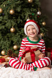 Child at christmas time Royalty Free Stock Image