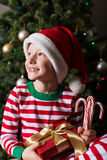 Child at christmas time Stock Images