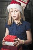 Child at christmas time Stock Image