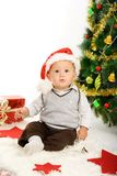 Child and christmas tree Royalty Free Stock Photo