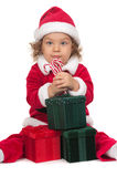 Child and Chritstmas Stock Photography
