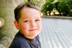Child at city park stock photo