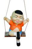 Child clay Doll Swing ride Stock Photography