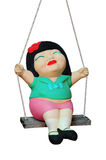 Child clay Doll Swing ride Royalty Free Stock Photo