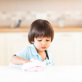 Child Cleaning Stock Photos