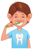 Child cleaning tooth Royalty Free Stock Photos