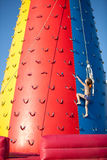 Child climbing Royalty Free Stock Images