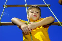 Child Climbing Royalty Free Stock Image