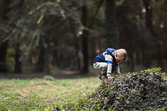 Child climbing in park. And playing Stock Images