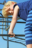 Child Climbing at Playground Royalty Free Stock Images