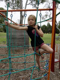 Child Climbing Ropes. Royalty Free Stock Photos