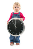 Child with clock Royalty Free Stock Photo
