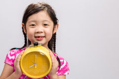 Child with Clock Background / Child with Clock / Child with Clock on  White Background Stock Image