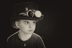 Child closeup steampunk Royalty Free Stock Photo